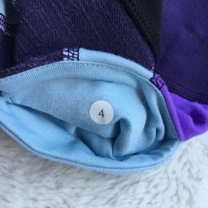 lululemon athletica Shorts - Lululemon Black and Purple Short Biking Shorts 4